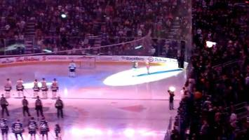 watch what these canadians did during a singing of the star spangled banner (video)